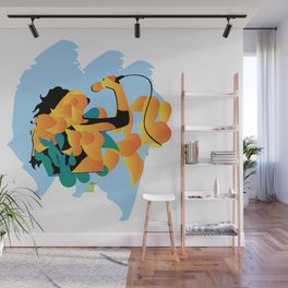 sound fire Wall Mural