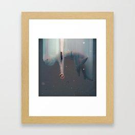 Falling Girl Framed Art Print