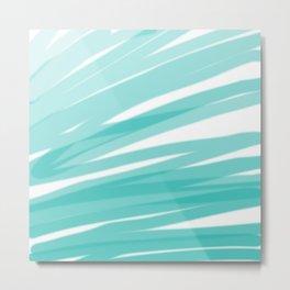 Bahama Blue Line Art, Variable Opacity Color Study - 1 Metal Print