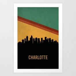Charlotte Skyline Art Print