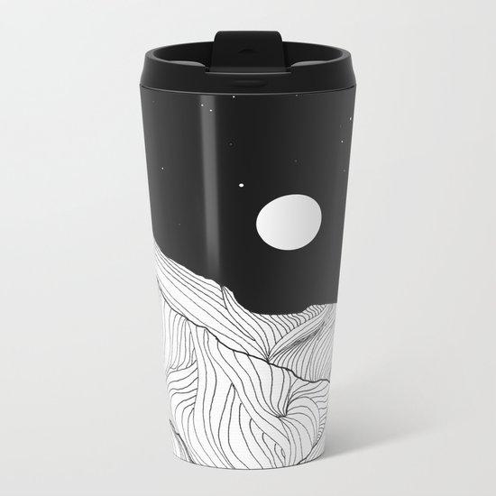 Lines in the mountains II Metal Travel Mug