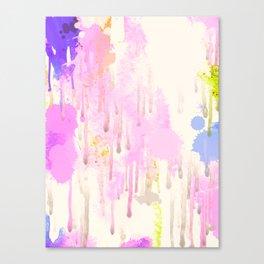 Colored rain Canvas Print