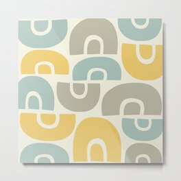 Mid Century Modern Abstract Composition 520 Metal Print