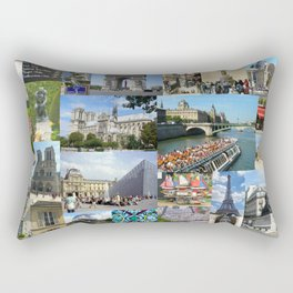 Paris Photo Collage Rectangular Pillow