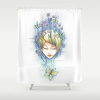 fairy Shower Curtains featuring Fairy by Nancy Isabelle Labrie