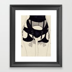Leg Sketch Five Framed Art Print