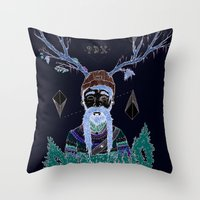 portland Throw Pillows featuring PORTLAND I by Michael Todd Berland