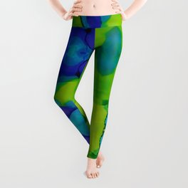 Purple and green dreams Leggings