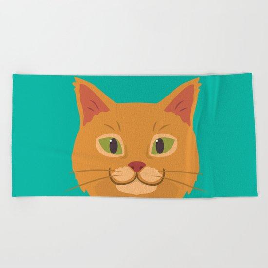 Peeking Cat Beach Towel