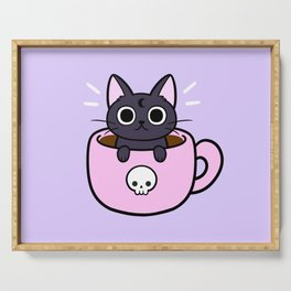 Pastel Coffee Cat Serving Tray