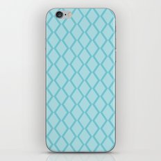 Powdery Blue Diamond Fencing iPhone & iPod Skin