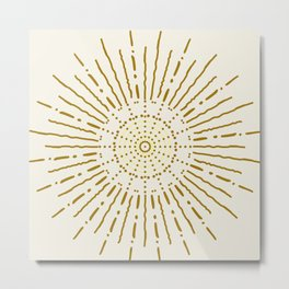 Positive Energy Golden Sunshine  Metal Print