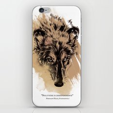 Solitude is independence iPhone & iPod Skin