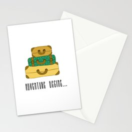 Adventure begins, suitcases are packed Stationery Cards