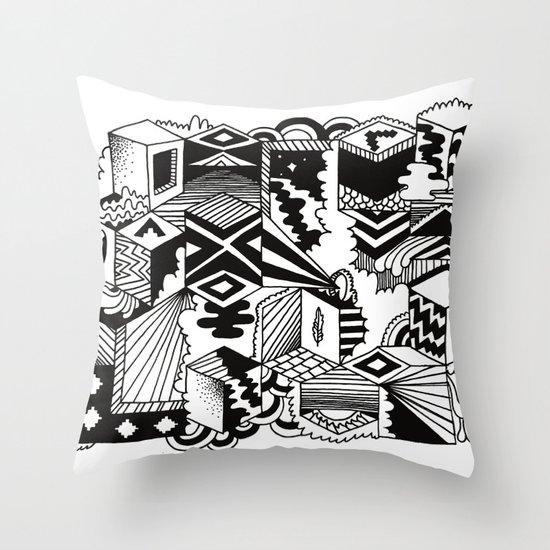 Cube-ular Throw Pillow