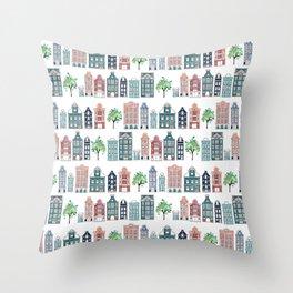 Amsterdam neighbourhood Throw Pillow