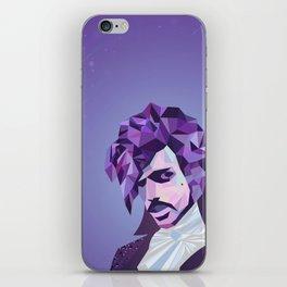 Purple Portrait iPhone Skin
