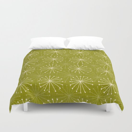 seedheads green Duvet Cover