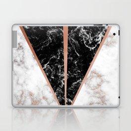 Black marble triangle shape Laptop & iPad Skin