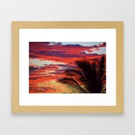 pomegranate sunset Framed Art Print