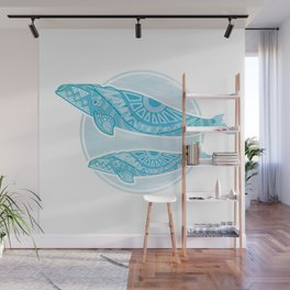 Right Whale and Calf Wall Mural
