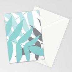 Botanical Fern Blue Stationery Cards