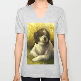 Jake: Sheepdog Portrait Unisex V-Neck