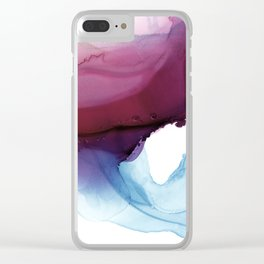 Shades of Purple Clear iPhone Case