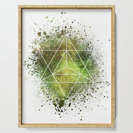 Star Tetrahedron the Merkaba Vehicle of Light Serving Tray