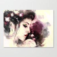 geisha Canvas Prints featuring Geisha by Vincent Vernacatola