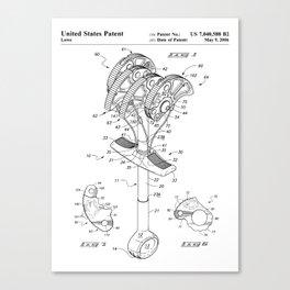 Climbing Anchor Patent - Rock Climber Art - Black And White Canvas Print