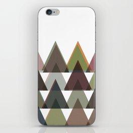 Triangle Geometric Trees in Layers iPhone Skin