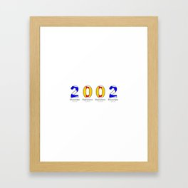 2002 - NAVY - My Year of Birth Framed Art Print