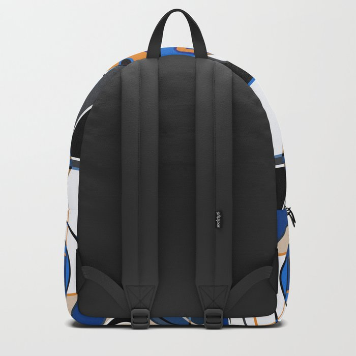 Abstract pattern with bold geometric shapes . Backpack