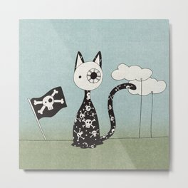 Just a Pirate Cat Metal Print