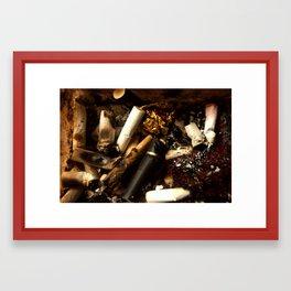 full ashtray Framed Art Print