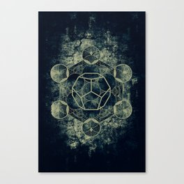 Sacred Geometry for your daily life -  Platonic Solids - ETHER Canvas Print