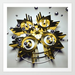 Neo Skyrocket Art Print