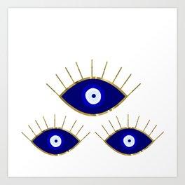 All Evil Eyes on You Art Print