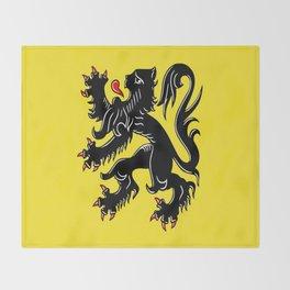 Flag of Flanders - Belgium,Belgian,vlaanderen,Vlaam,Oostende,Antwerpen,Gent,Beveren,Brussels,flamish Throw Blanket