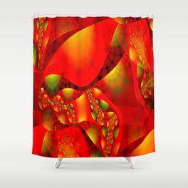 Abstractly glamour Shower Curtain