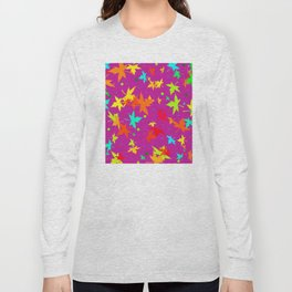 Forever Autumn Leaves purple 4 Long Sleeve T-shirt