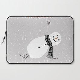 Snowman Yoga - Side Planck Laptop Sleeve