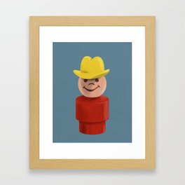 All Hat and No Cattle Framed Art Print