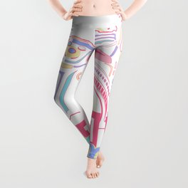 Smile and be Yourself - Pastel Camera Leggings