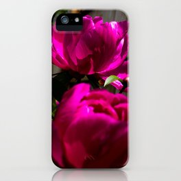 Backyard Peonies iPhone Case