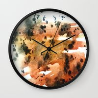 montana Wall Clocks featuring montana agate by HiddenStash Art