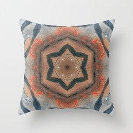 Bushfire Gum Medallion 14 Throw Pillow