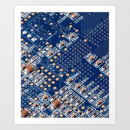 Blue Panel Art Print