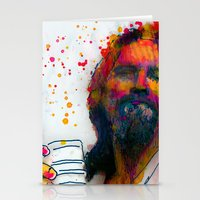 the dude Stationery Cards featuring dude by benjamin james